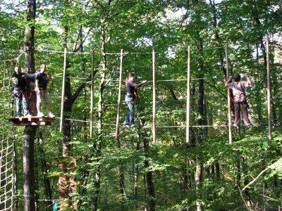 concours, parcours aventure en forêt, tyrolienne, Poitiers