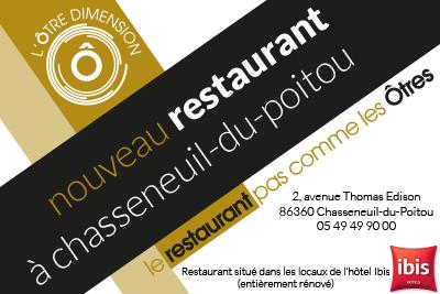 nouveau restaurant, L'Ôtre Dimension, Chasseneuil Futuroscope
