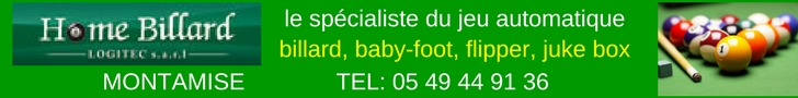 tarifs billards, flippers, juke-box, baby-foot à Poitiers