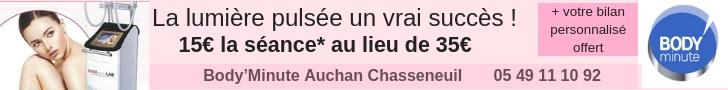 promo lumière pulsée épilation Poitiers Chasseneuil