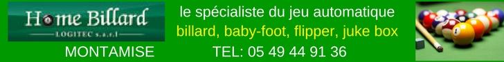 grand choix de billards et de flippers baby foot à Poitiers