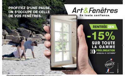 promotion sur toute la gamme Poitiers Neuville de Poitou Fermetures Alain Mariette concessionnaire Art & Fenêtres-15% PROLONGATION JUSQU'AU 31 OCTOBRE